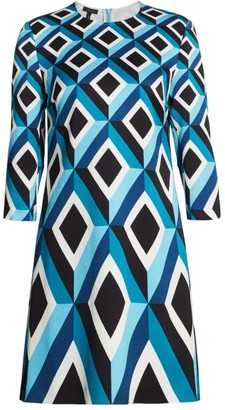 Escada Derhu Abstract Diamond Shift Dress