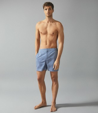 Reiss Eclipse - Printed Swim Shorts in Blue