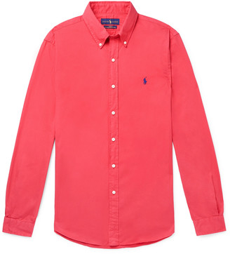 Polo Ralph Lauren Button-Down Collar Garment-Dyed Cotton Oxford Shirt