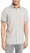 Jeremiah Blair Regular Fit Jacquard Short Sleeve Sport Shirt