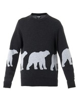 CHRISTOPHER RAEBURN Polar bear intarsia-knit wool sweater