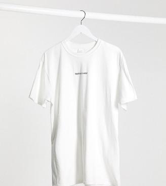 In The Style Plus x Jac Jossa loungewear mini motif slogan tshirt in white