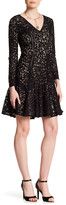 Cynthia Steffe Claire Long Sleeve V-Neck Lace Dress