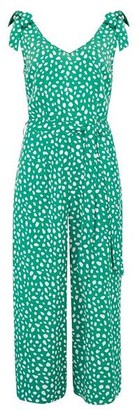 Sugarhill Boutique Athina Painterly Spot Jumpsuit Green - 14