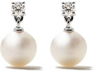 TASAKI 18kt white gold Akoya pearl and diamond earrings