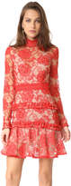 Nicholas Rosie Lace High Neck Mini Dress