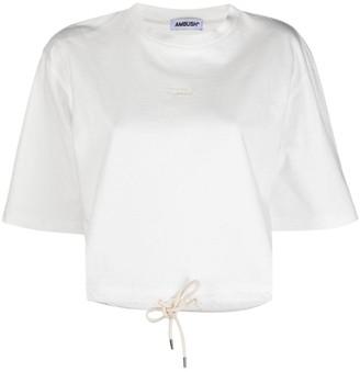 Ambush drawstring cropped T-shirt