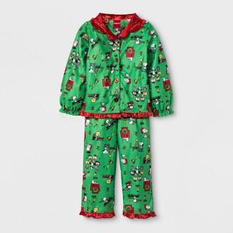 Peanuts Toddler Girl' Peanut Coat 2pc Pajama et - 3T