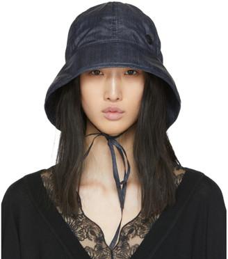 Maison Michel Navy Denim Effect Veronica Hat