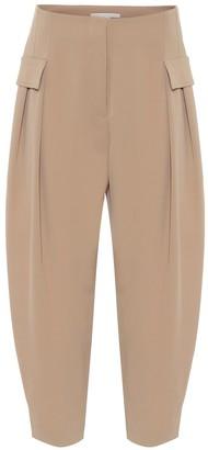 Stella McCartney Stretch-wool high-rise pants