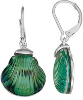 Napier Green Shell Nickel Free Drop Earrings