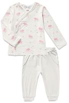 Angel Dear Girls' Pig Print Top & Striped Joggers Set - Baby