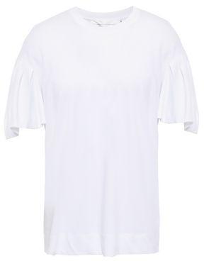 Victoria Victoria Beckham Pleated Cotton-jersey T-shirt