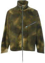 Palm Angels camouflage wide collar jacket