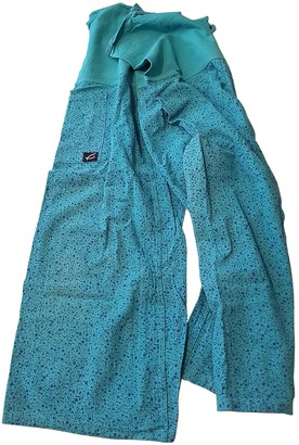 Non Signé / Unsigned Non Signe / Unsigned Oversize Blue Cloth Trousers for Women Vintage