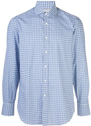 Brunello Cucinelli Long-Sleeved Gingham Shirt