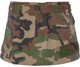 Marc Jacobs Camouflage-print Cotton-twill Mini Skirt - Army green