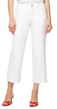 Sanctuary Frayed-Hem Wide-Leg Jeans