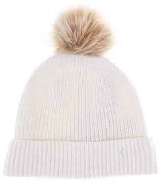 Mint Velvet Cream Pom Pom Knitted Hat