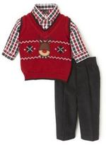 Dockers Reindeer Sweater Vest 3-Piece Set