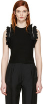 3.1 Phillip Lim Black Ruffle Sport Tank Top