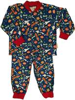 Snoozers 100% Cotton Flannel Blast off Glow in the Dark Pajamas (LG)