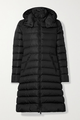 Moncler Lemenez Hooded Quilted Econyl Down Coat - Black