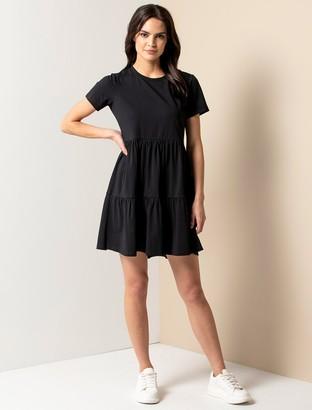 Forever New Sallie Smock T-Shirt Dress - Black - 10