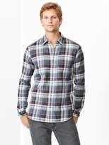 Gap Lightweight twill clay plaid shirt
