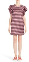 MSGM Women's Ruffle Sleeve Stripe Dress