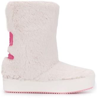 Chiara Ferragni Faux Fur Platform Boots