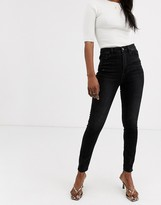 Stradivarius high waist skinny jean in black