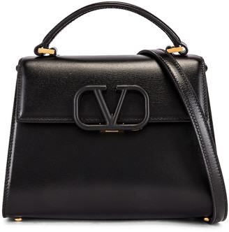 Valentino Small Vsling Top Handle Bag in Black   FWRD