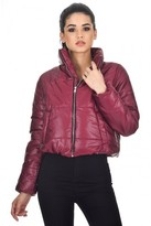 AX Paris Plum Wet Look Puffer Jacket