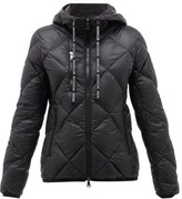Moncler Oulx Diamond-quilted Nylon Jacket - Womens - Black