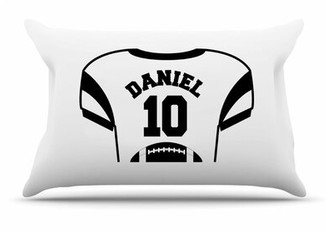 JDS Personalized Gifts Personalized Kids Jersey Cotton Pillow Cover