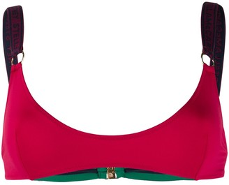 Stella McCartney Logo-Strap Sporty Bikini Top