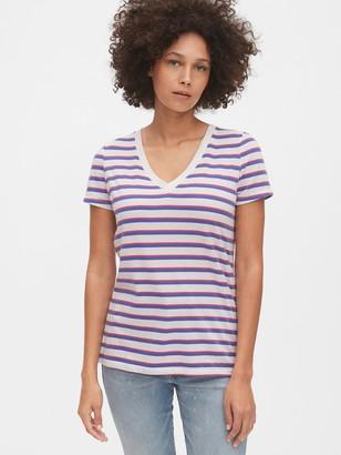 Gap Vintage Stripe V-Neck T-Shirt