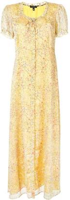 R 13 Floral-Print Silk Dress