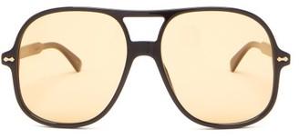 Gucci Aviator Acetate Sunglasses - Yellow