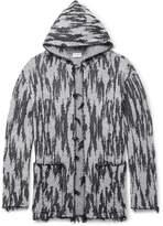 Saint Laurent - Ikat-Woven Hooded Cardigan