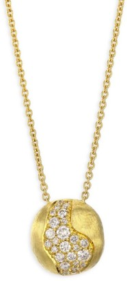 Marco Bicego Africa Diamond & 18K Yellow Gold Pendant Necklace
