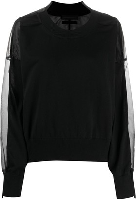 Diesel Black Gold Sheer Layer Sweatshirt