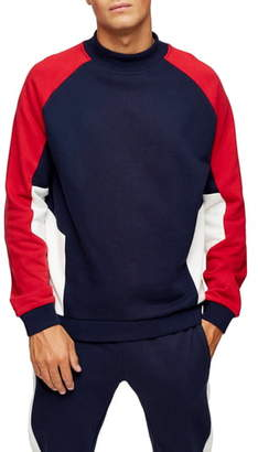 Topman Monty Classic Fit Crewneck Sweatshirt