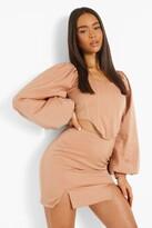 Thumbnail for your product : boohoo Matte Satin Split Side Mini Skirt