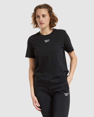 Reebok Classics Women's Black Long Sleeve T-Shirts - Classics Small Logo Tee - Size One Size, XS at The Iconic
