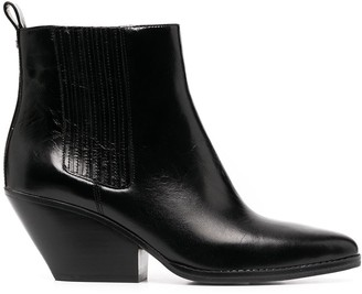 Michael Kors Collection Sinclair leather boots