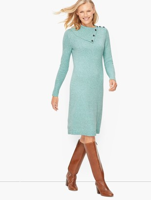 Talbots Supersoft Button Detail Shift Dress - Marl