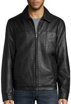 Dockers Faux Leather Laydown Collar