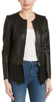 Sandro Vivette Leather Blazer.